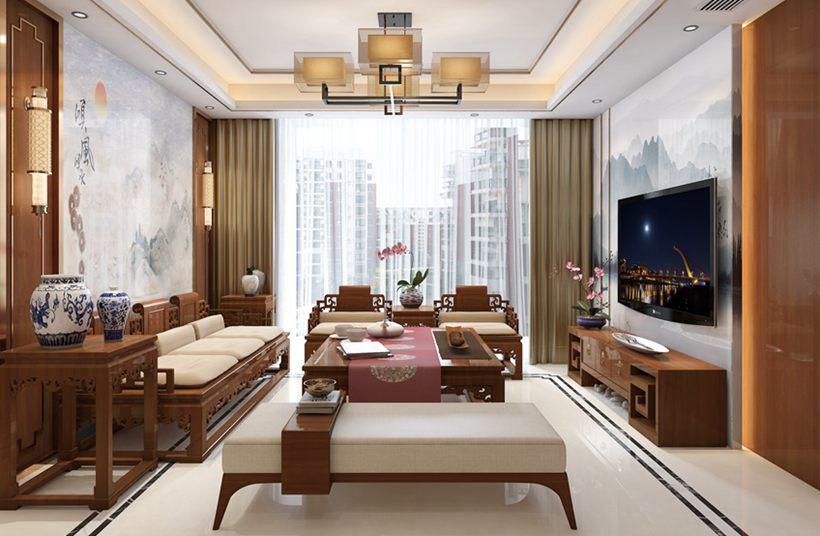 壹城中心135平中式风格